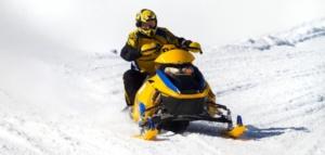 Scooter, sněžný skůtr, taxi, horská služba, outdoor